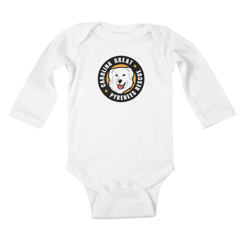 CGPR Logo Kids Baby Longsleeve Bodysuit by Carolina Great Pyrenees Rescue's Shop