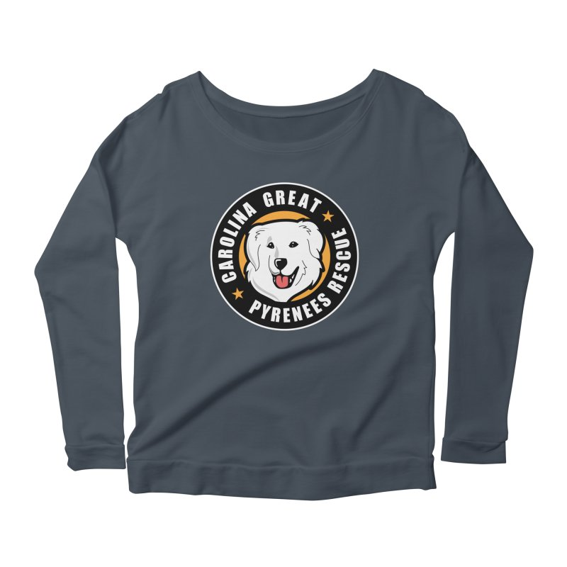 CGPR Logo Women's Scoop Neck Longsleeve T-Shirt by Carolina Great Pyrenees Rescue's Shop