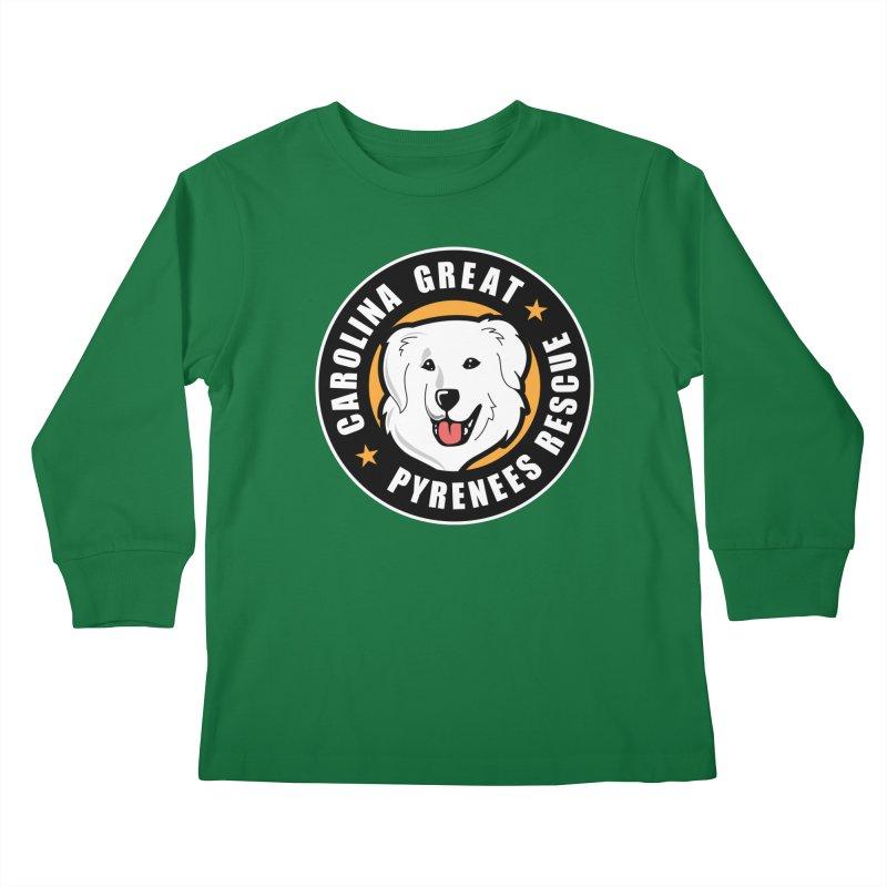 CGPR Logo Kids Longsleeve T-Shirt by Carolina Great Pyrenees Rescue's Shop