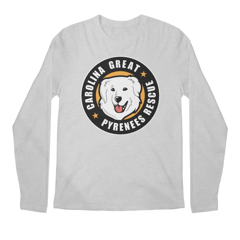 CGPR Logo Men's Regular Longsleeve T-Shirt by Carolina Great Pyrenees Rescue's Shop