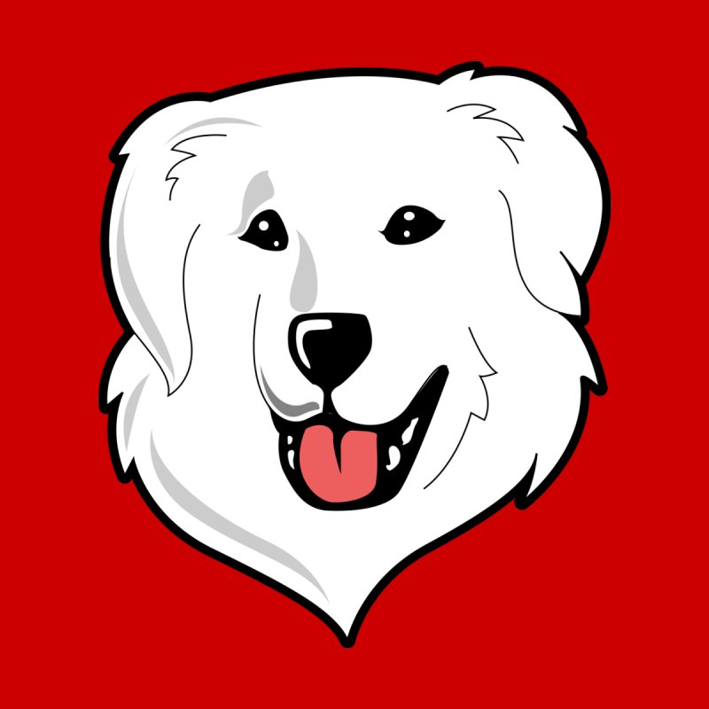 Happy Pyr on color backgrounds by Carolina Great Pyrenees Rescue's Shop