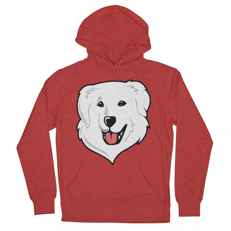 Happy Pyr on color backgrounds Women's Pullover Hoody by Carolina Great Pyrenees Rescue's Shop