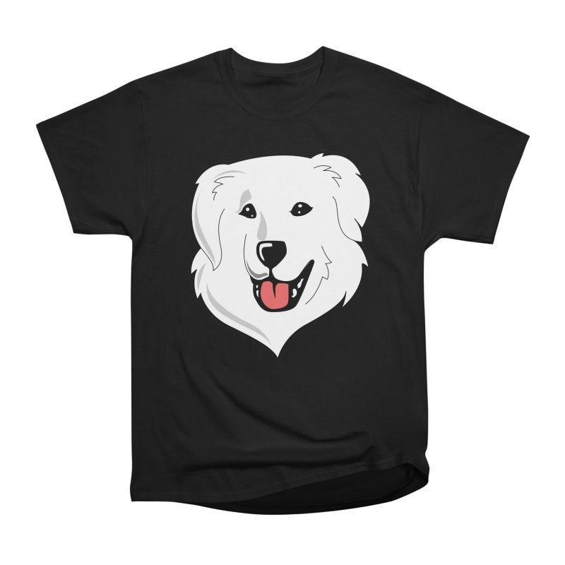 Happy Pyr on color backgrounds Men's Classic T-Shirt by Carolina Great Pyrenees Rescue's Shop