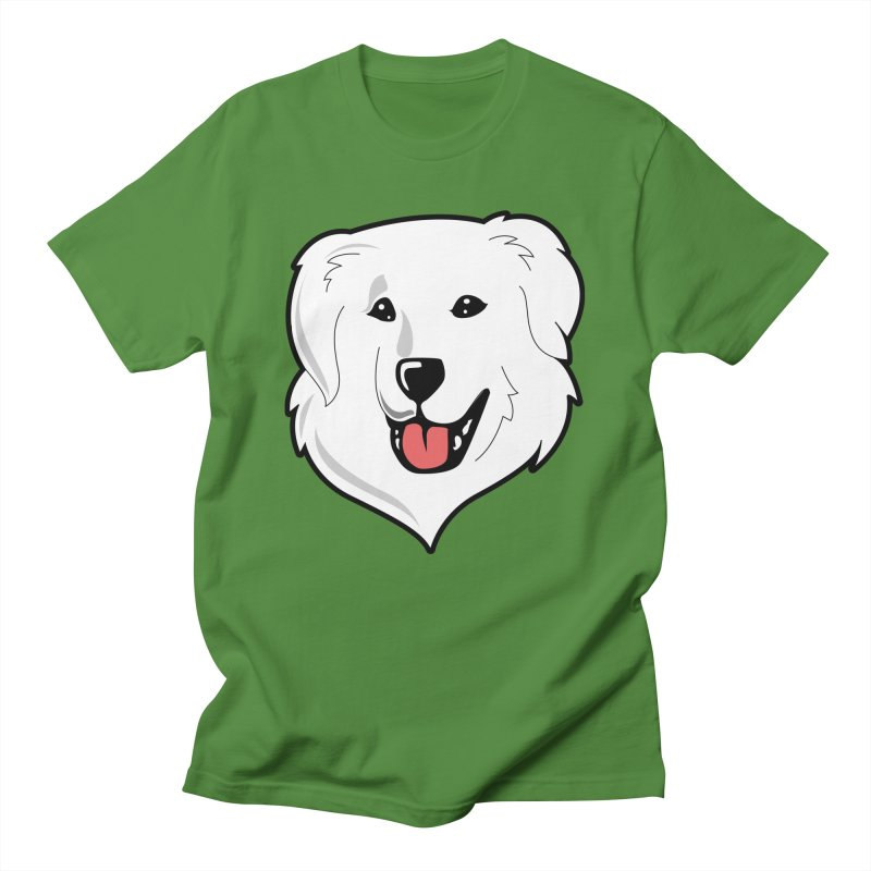 Happy Pyr on color backgrounds Women's Unisex T-Shirt by Carolina Great Pyrenees Rescue's Shop