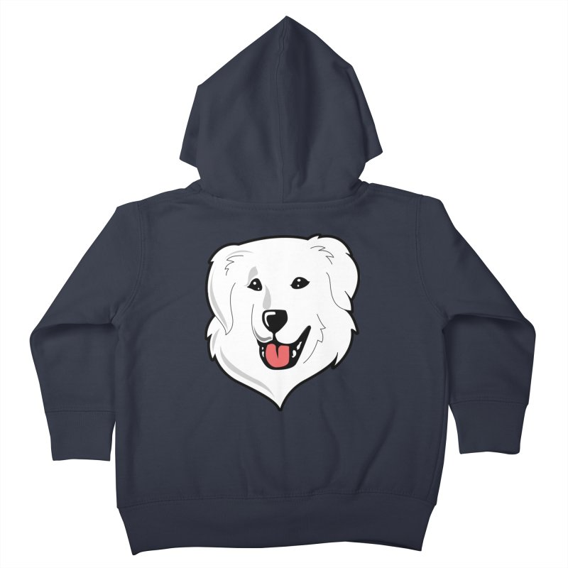 Happy Pyr on color backgrounds Kids Toddler Zip-Up Hoody by Carolina Great Pyrenees Rescue's Shop
