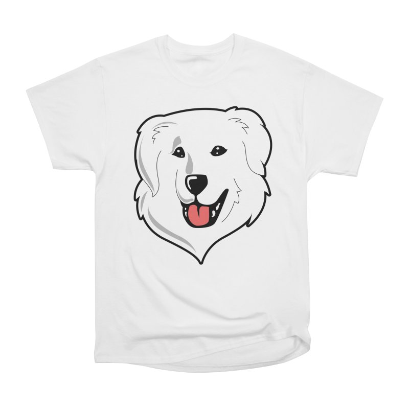 Happy Pyr on white Women's Classic Unisex T-Shirt by Carolina Great Pyrenees Rescue's Shop