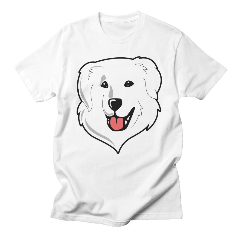 Happy Pyr on white Men's T-Shirt by Carolina Great Pyrenees Rescue's Shop