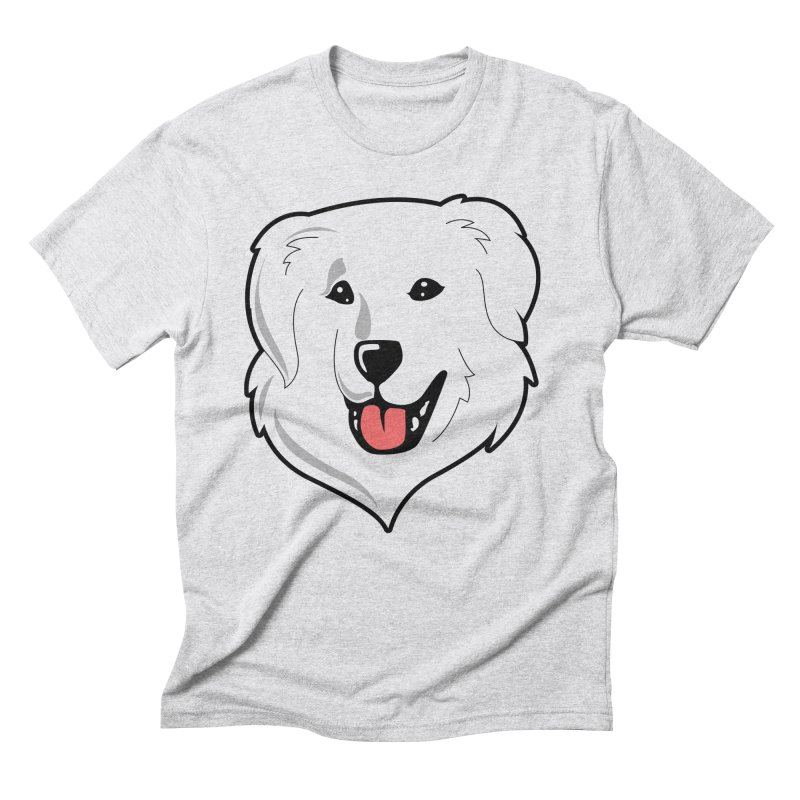 Happy Pyr on white Men's Triblend T-Shirt by Carolina Great Pyrenees Rescue's Shop