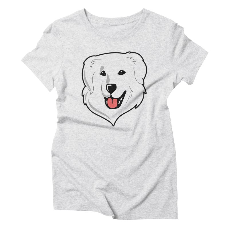 Happy Pyr on white Women's Triblend T-Shirt by Carolina Great Pyrenees Rescue's Shop