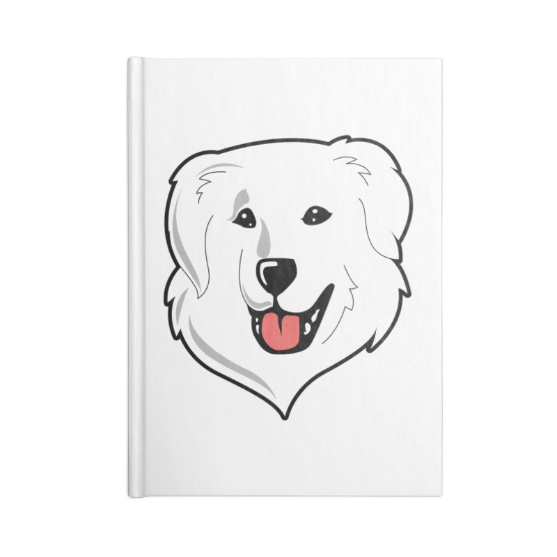 Happy Pyr on white Accessories Notebook by Carolina Great Pyrenees Rescue's Shop