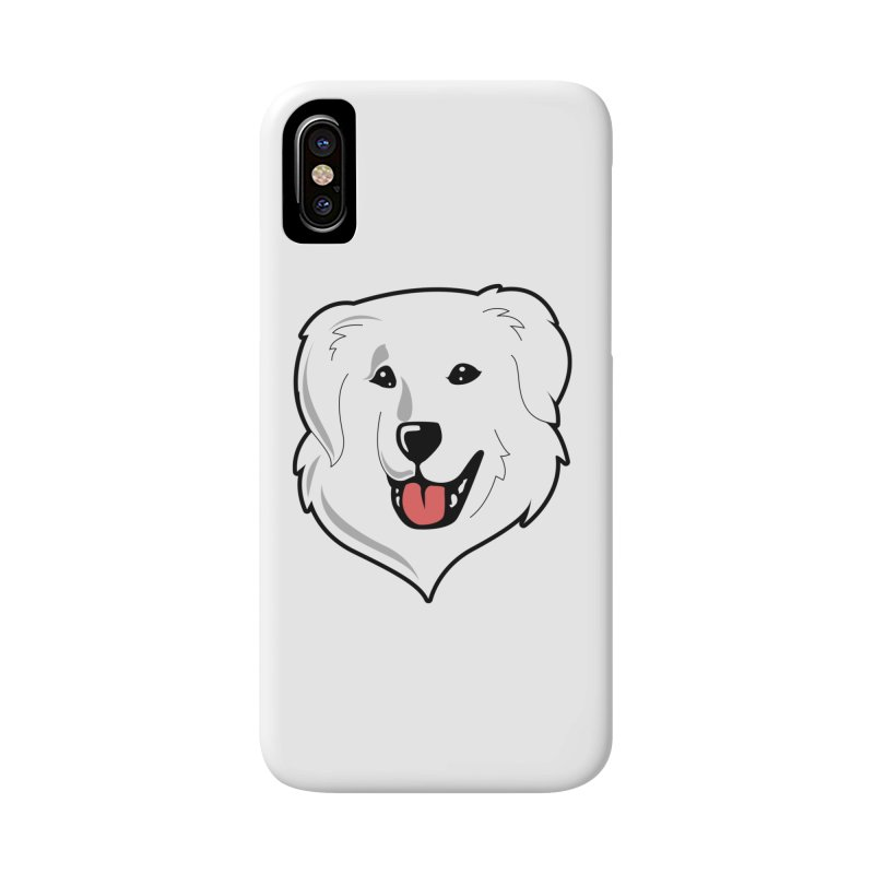 Happy Pyr on white Accessories Phone Case by Carolina Great Pyrenees Rescue's Shop