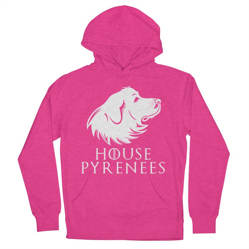 House Pyrenees Men's French Terry Pullover Hoody by Carolina Great Pyrenees Rescue's Shop