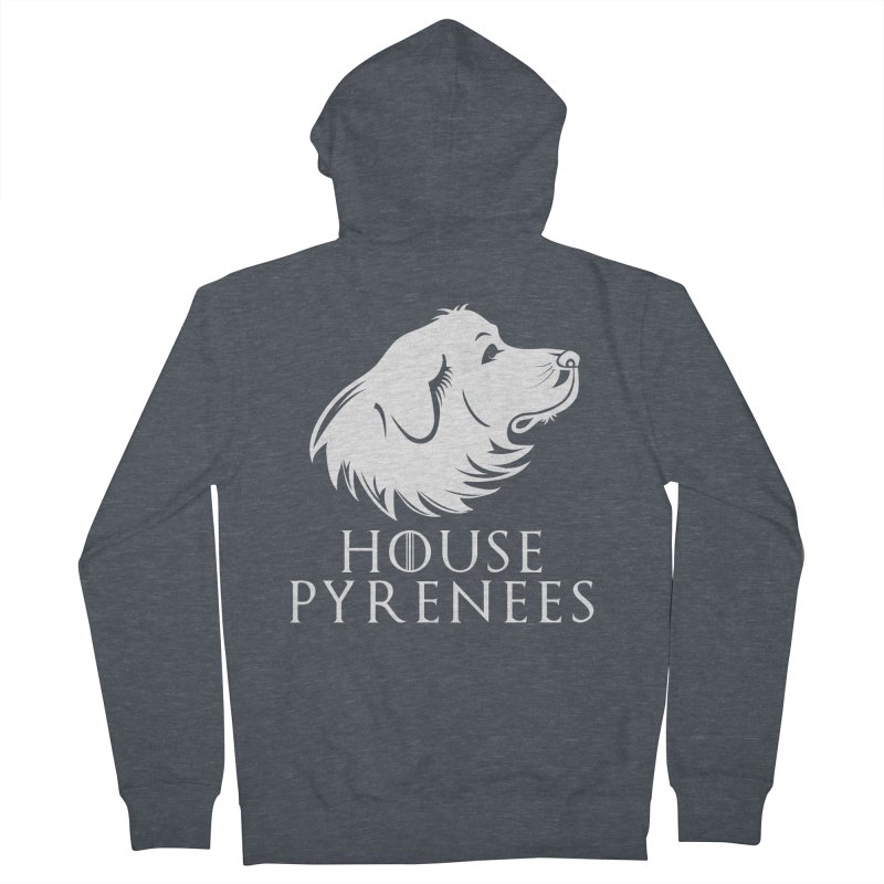 House Pyrenees Women's French Terry Zip-Up Hoody by Carolina Great Pyrenees Rescue's Shop