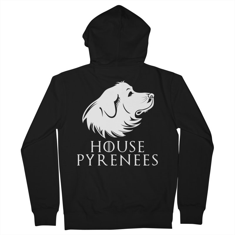 House Pyrenees Women's Zip-Up Hoody by Carolina Great Pyrenees Rescue's Shop