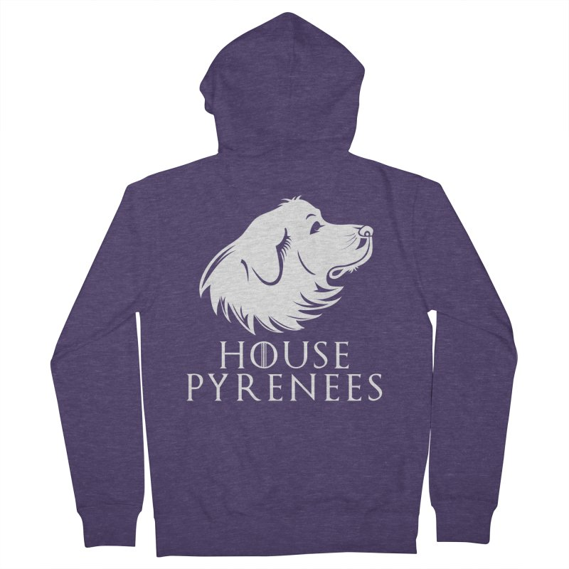 House Pyrenees Men's French Terry Zip-Up Hoody by Carolina Great Pyrenees Rescue's Shop