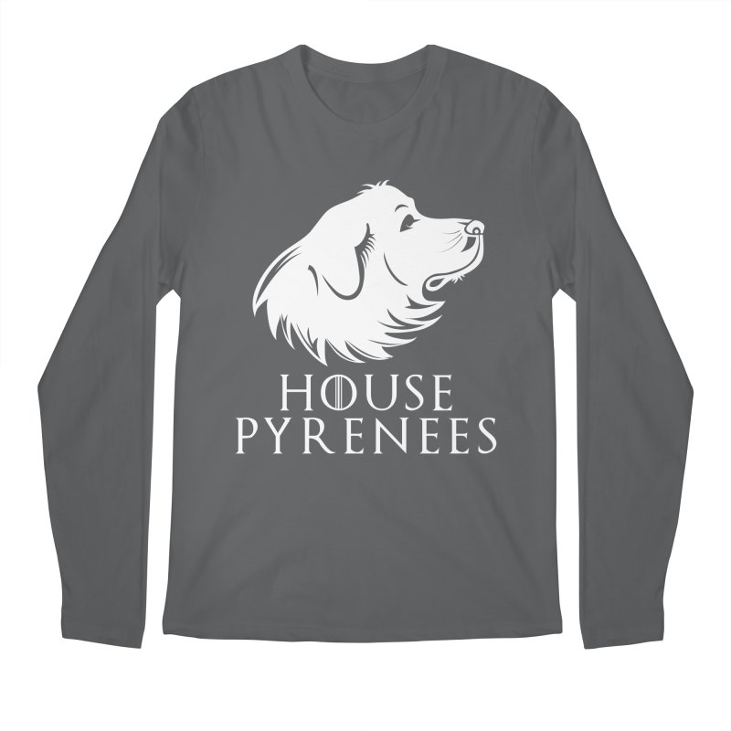 House Pyrenees Men's Longsleeve T-Shirt by Carolina Great Pyrenees Rescue's Shop