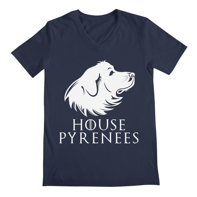 House Pyrenees Men's V-Neck by Carolina Great Pyrenees Rescue's Shop