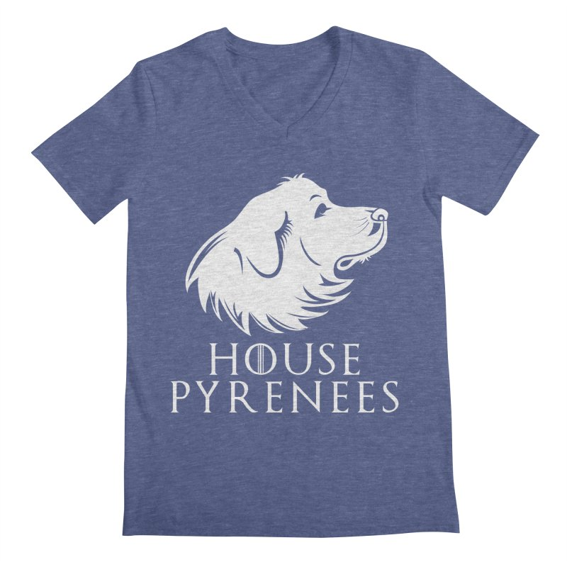 House Pyrenees Men's Regular V-Neck by Carolina Great Pyrenees Rescue's Shop