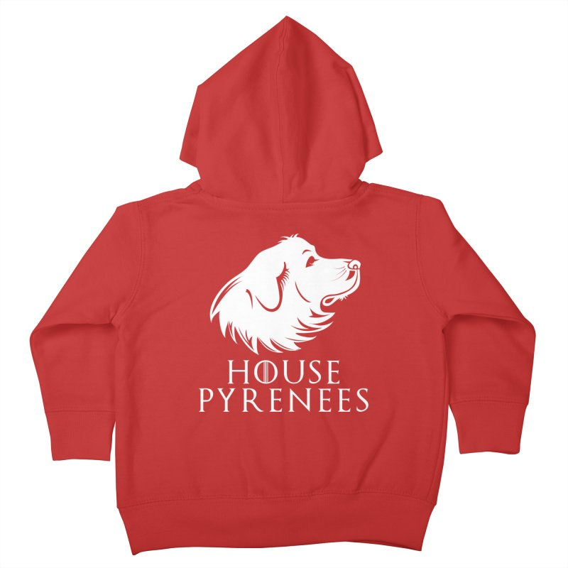 House Pyrenees Kids Toddler Zip-Up Hoody by Carolina Great Pyrenees Rescue's Shop