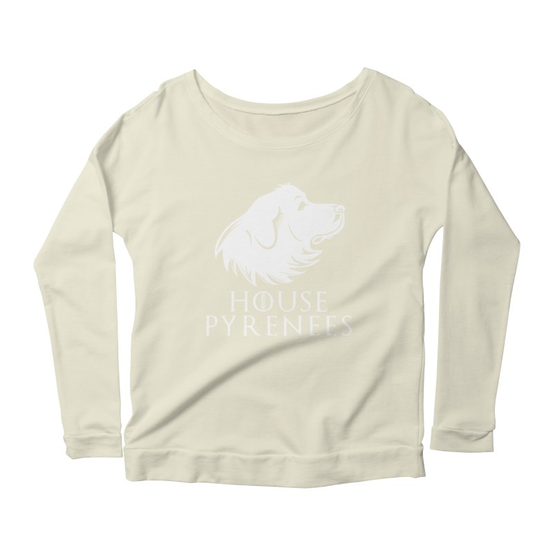 House Pyrenees Women's Scoop Neck Longsleeve T-Shirt by Carolina Great Pyrenees Rescue's Shop