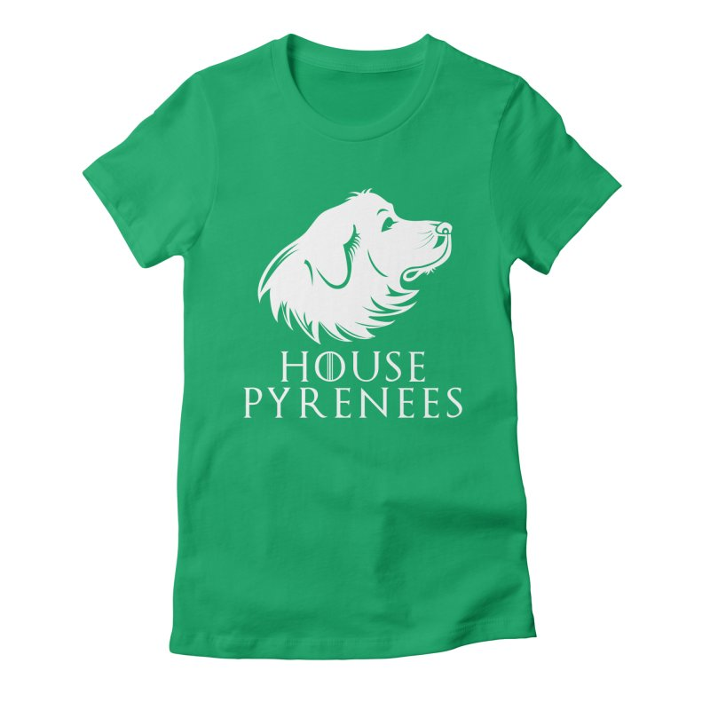 House Pyrenees Women's Fitted T-Shirt by Carolina Great Pyrenees Rescue's Shop