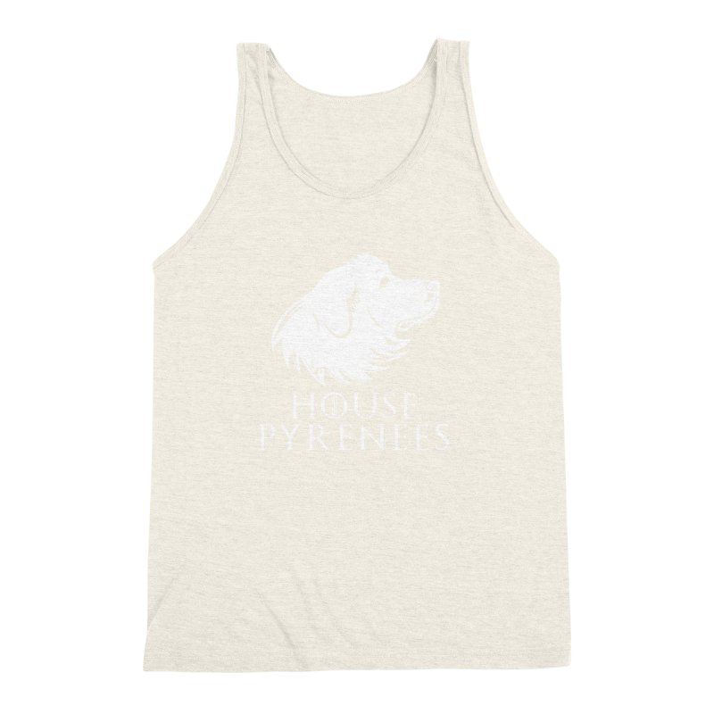 House Pyrenees Men's Triblend Tank by Carolina Great Pyrenees Rescue's Shop