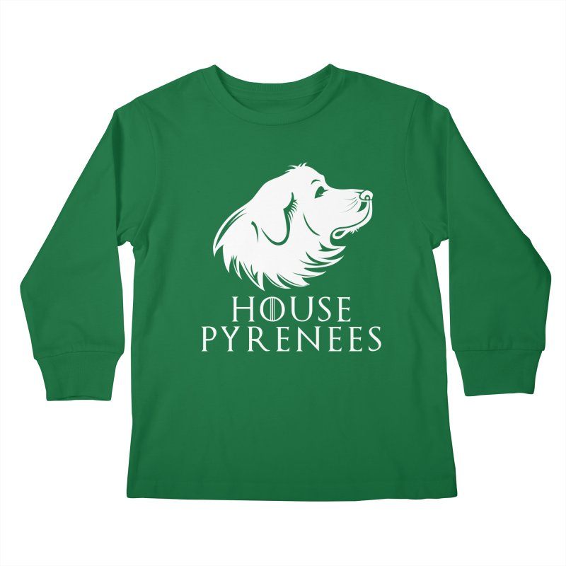 House Pyrenees Kids Longsleeve T-Shirt by Carolina Great Pyrenees Rescue's Shop