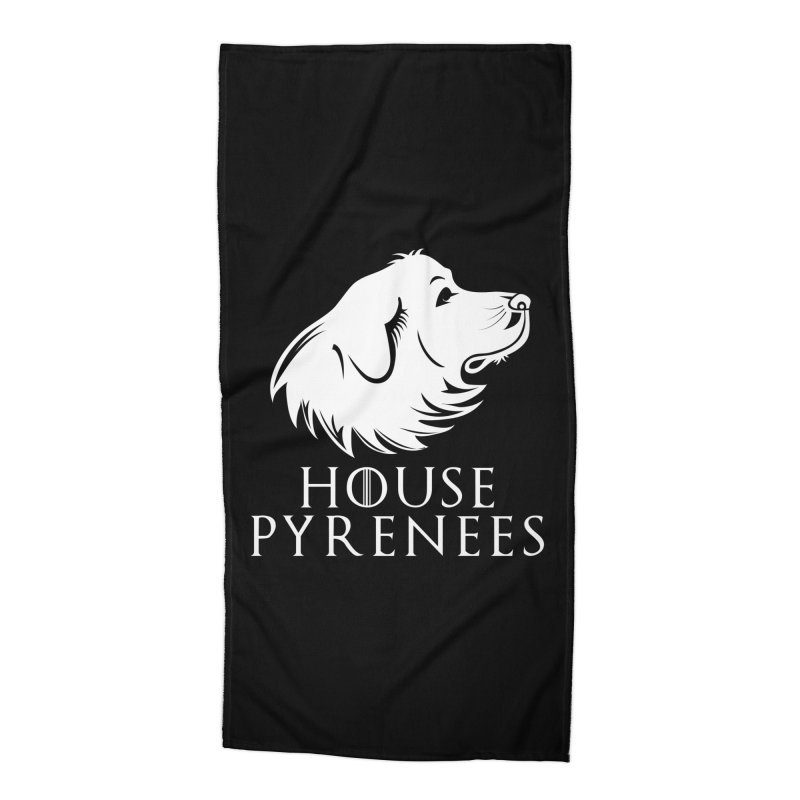 House Pyrenees Accessories Beach Towel by Carolina Great Pyrenees Rescue's Shop