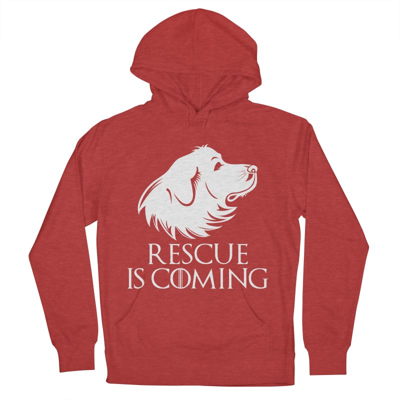 Rescue is Coming Men's Pullover Hoody by Carolina Great Pyrenees Rescue's Shop
