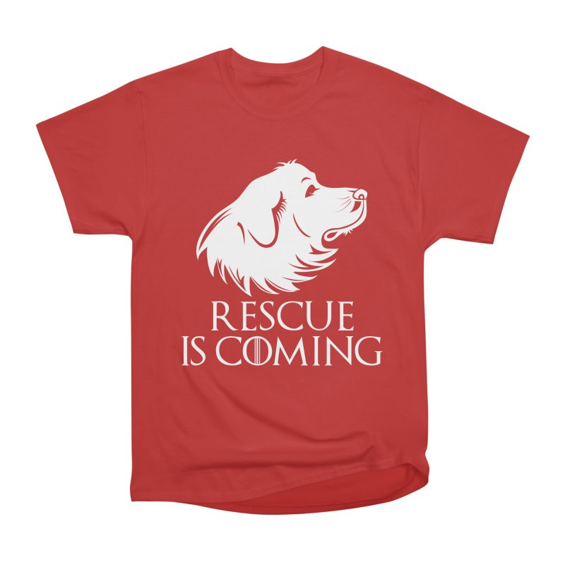 Rescue is Coming Men's Heavyweight T-Shirt by Carolina Great Pyrenees Rescue's Shop