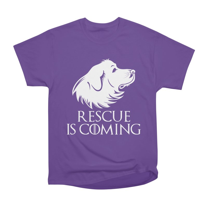 Rescue is Coming Men's Classic T-Shirt by Carolina Great Pyrenees Rescue's Shop