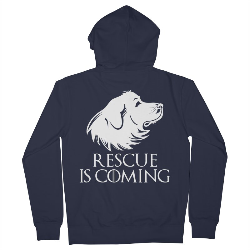 Rescue is Coming Men's Zip-Up Hoody by Carolina Great Pyrenees Rescue's Shop