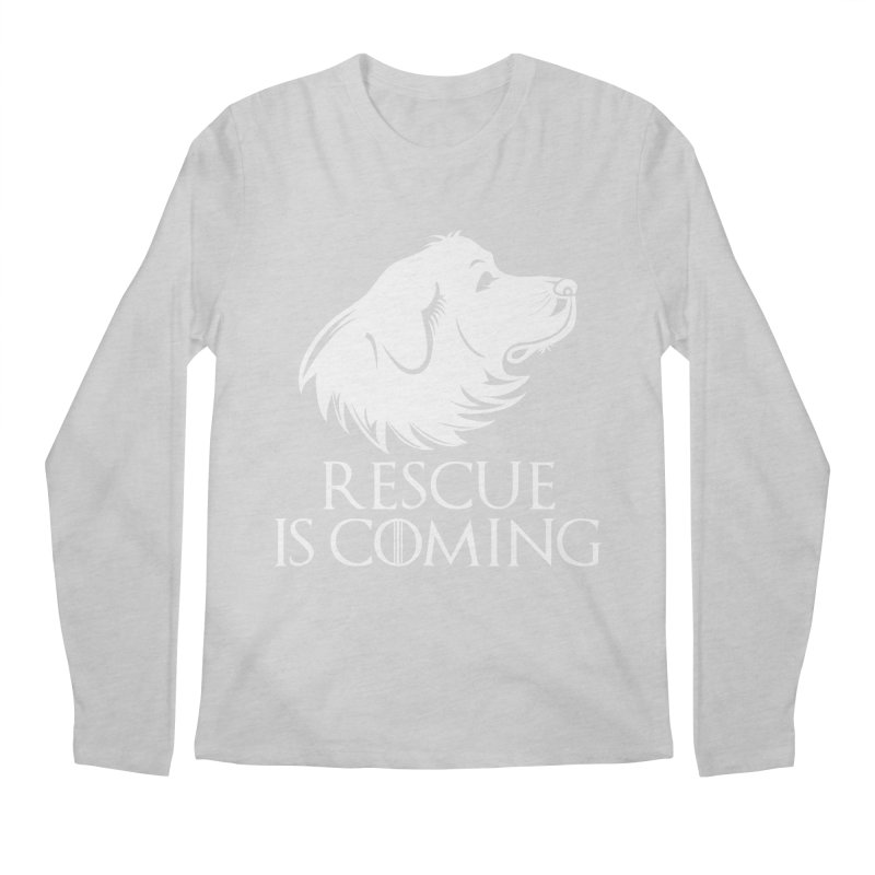 Rescue is Coming Men's Regular Longsleeve T-Shirt by Carolina Great Pyrenees Rescue's Shop