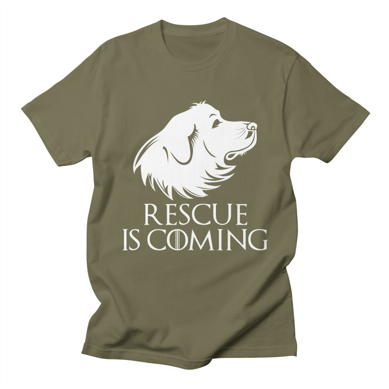 Rescue is Coming Women's Unisex T-Shirt by Carolina Great Pyrenees Rescue's Shop