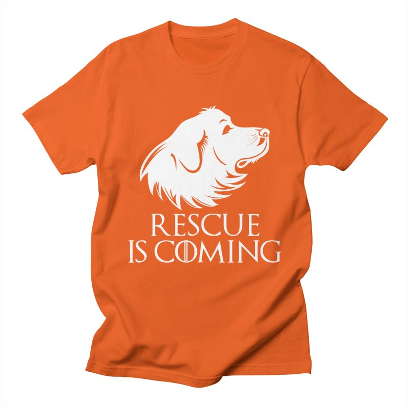 Rescue is Coming Men's T-Shirt by Carolina Great Pyrenees Rescue's Shop