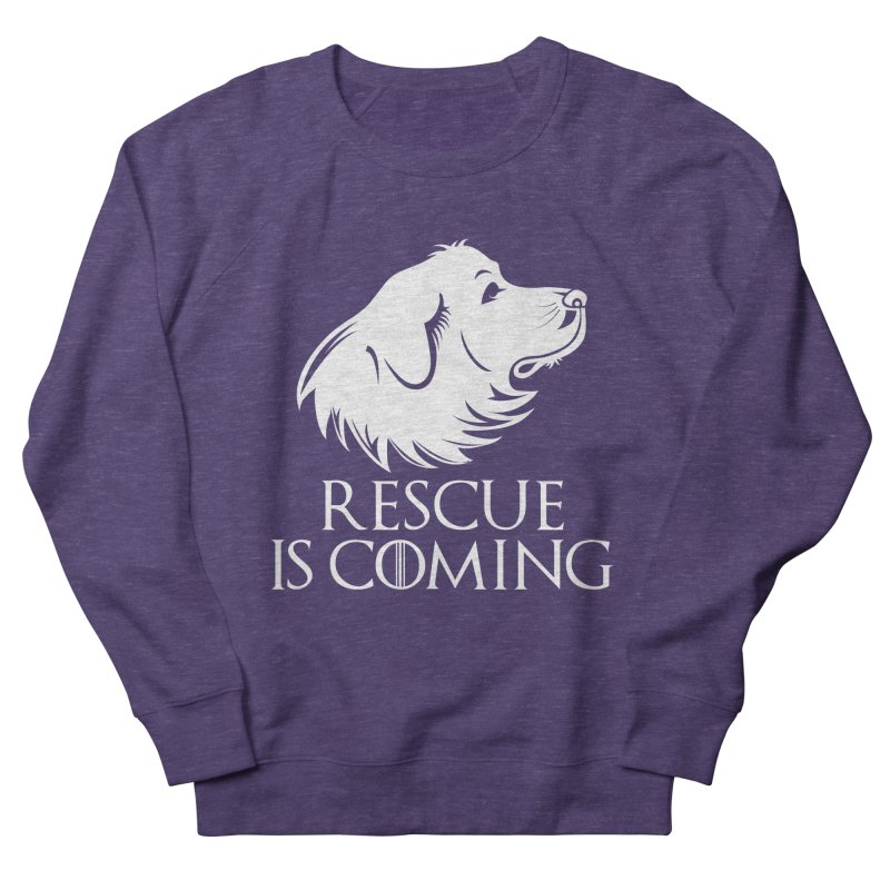 Rescue is Coming Men's French Terry Sweatshirt by Carolina Great Pyrenees Rescue's Shop