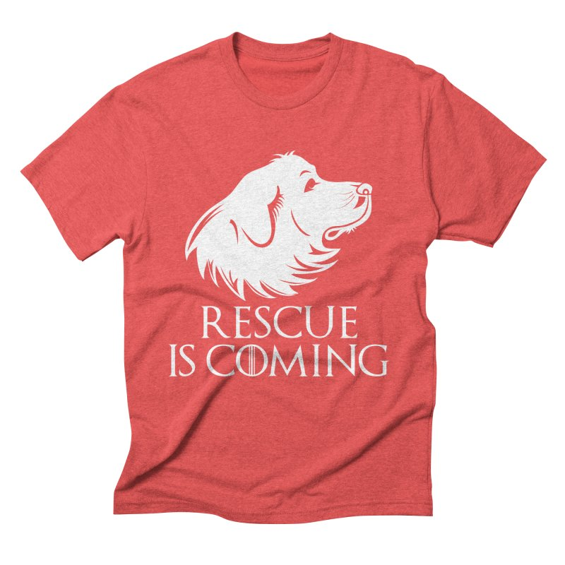 Rescue is Coming Men's Triblend T-Shirt by Carolina Great Pyrenees Rescue's Shop