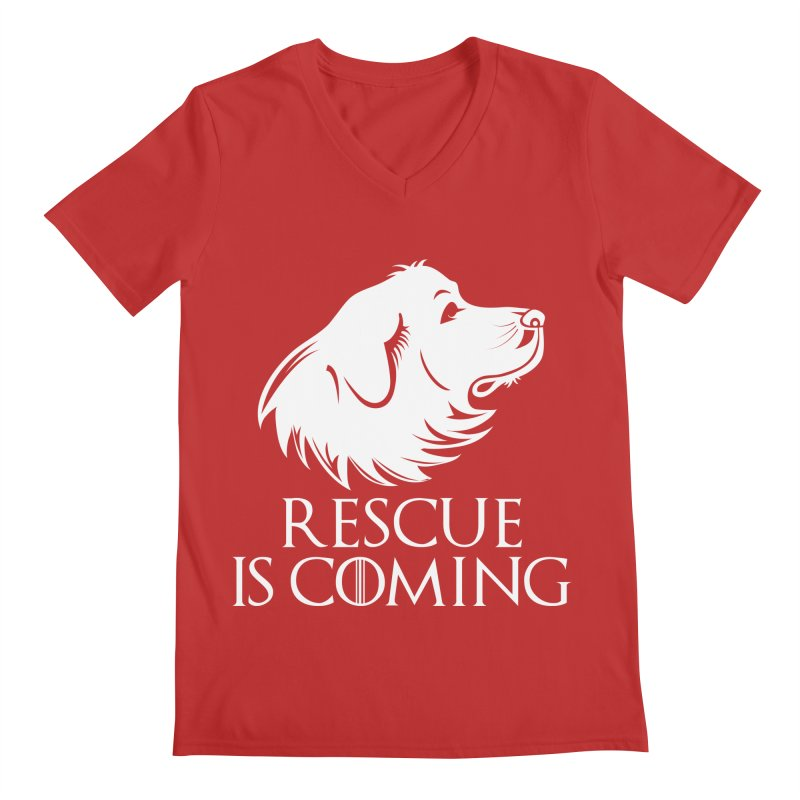Rescue is Coming Men's V-Neck by Carolina Great Pyrenees Rescue's Shop