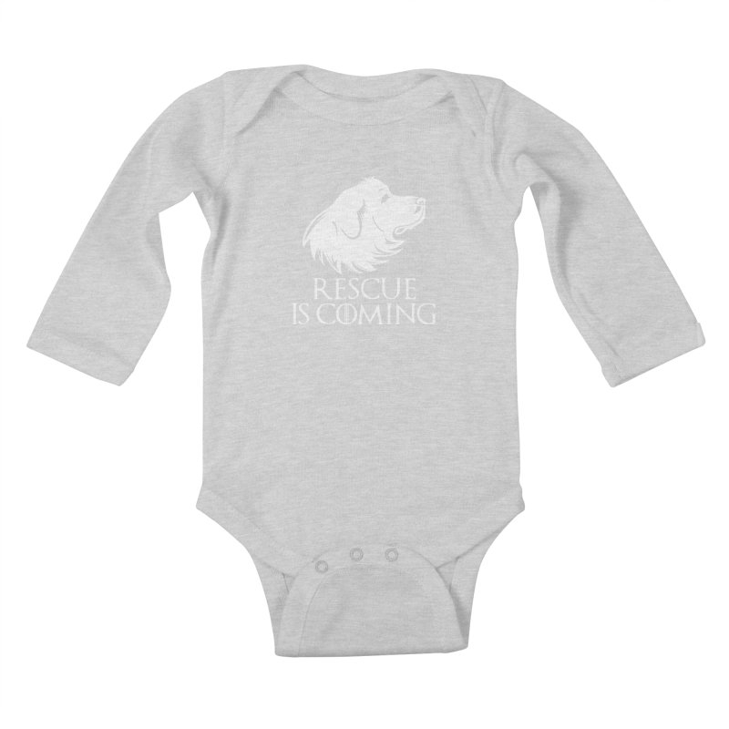 Rescue is Coming Kids Baby Longsleeve Bodysuit by Carolina Great Pyrenees Rescue's Shop