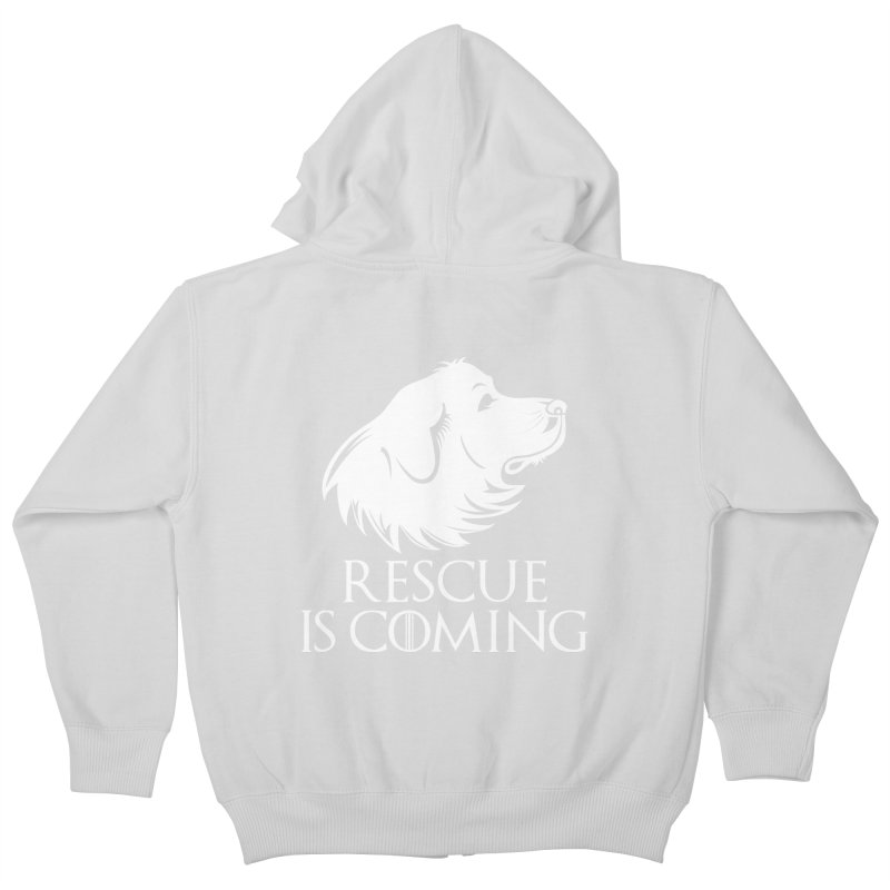 Rescue is Coming Kids Zip-Up Hoody by Carolina Great Pyrenees Rescue's Shop