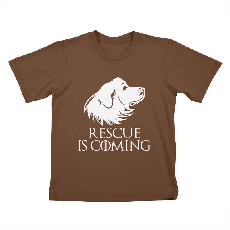 Rescue is Coming Kids T-Shirt by Carolina Great Pyrenees Rescue's Shop
