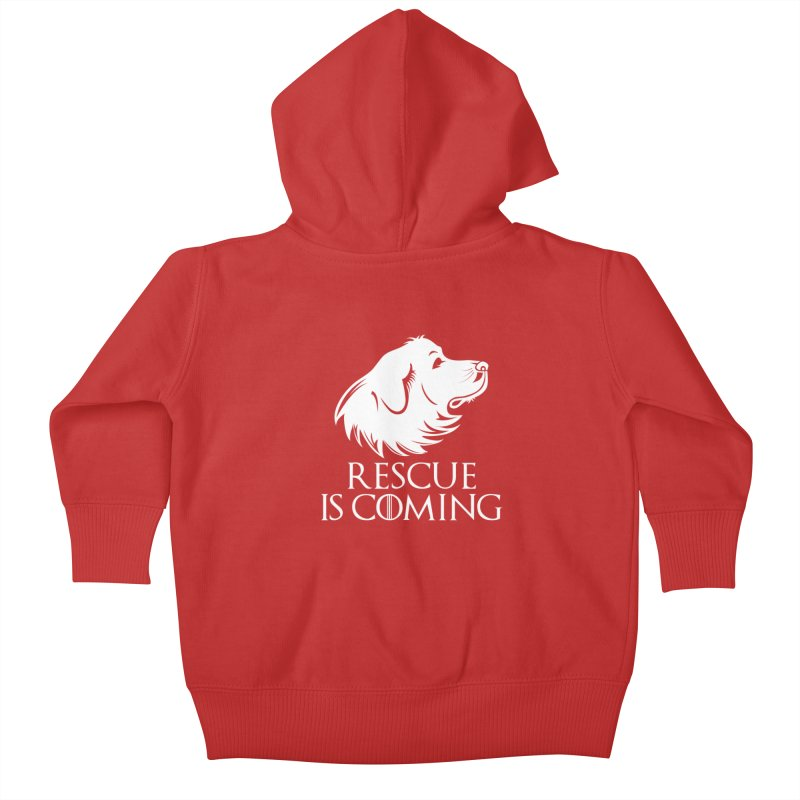 Rescue is Coming Kids Baby Zip-Up Hoody by Carolina Great Pyrenees Rescue's Shop