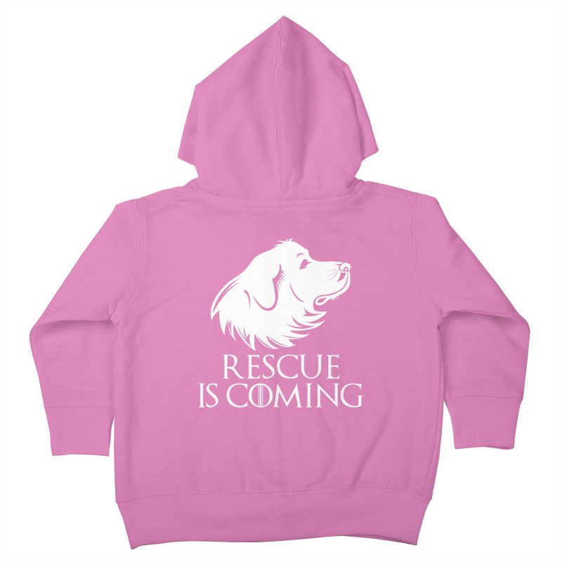 Rescue is Coming Kids Toddler Zip-Up Hoody by Carolina Great Pyrenees Rescue's Shop
