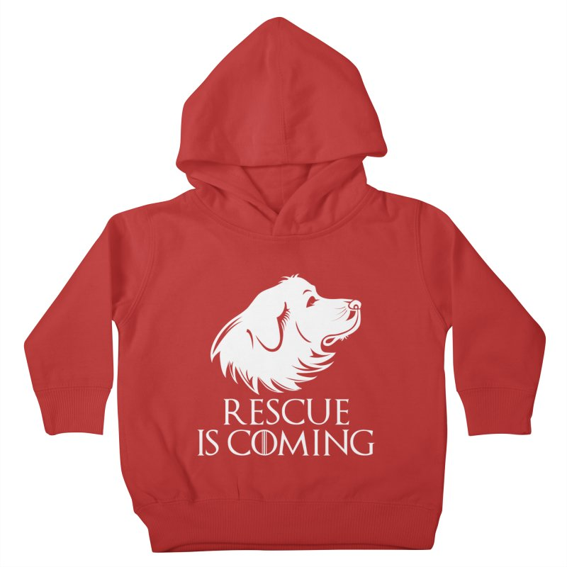 Rescue is Coming Kids Toddler Pullover Hoody by Carolina Great Pyrenees Rescue's Shop