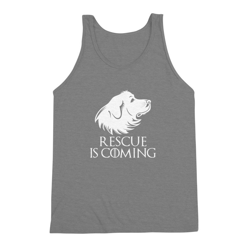 Rescue is Coming Men's Triblend Tank by Carolina Great Pyrenees Rescue's Shop