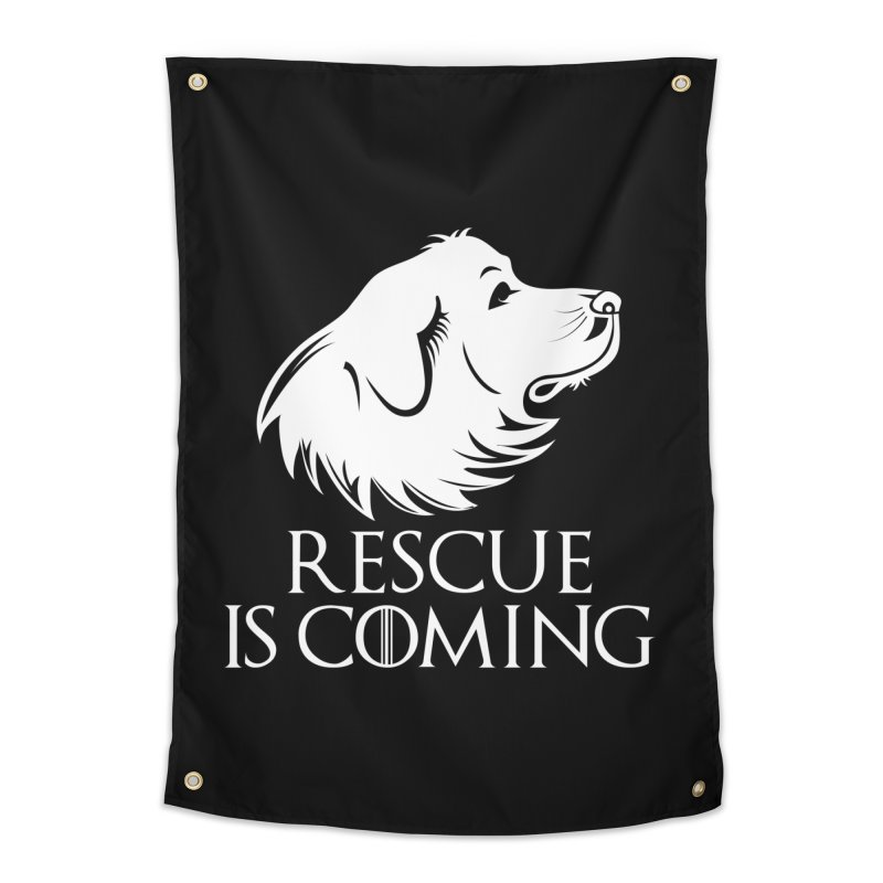 Rescue is Coming Home Tapestry by Carolina Great Pyrenees Rescue's Shop