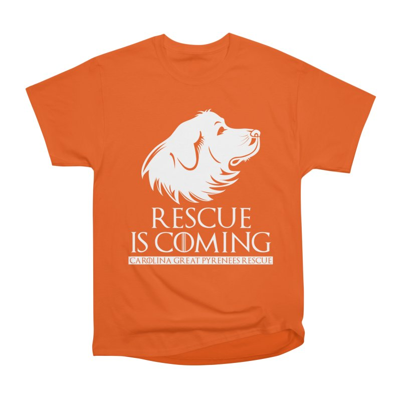 Rescue is Coming CGPR Men's Classic T-Shirt by Carolina Great Pyrenees Rescue's Shop