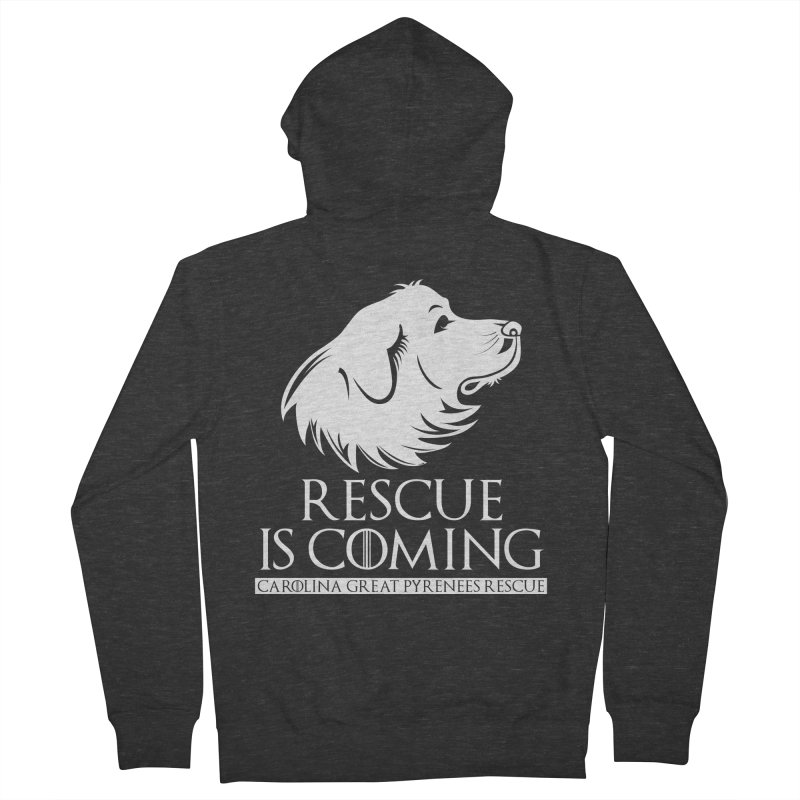 Rescue is Coming CGPR Women's French Terry Zip-Up Hoody by Carolina Great Pyrenees Rescue's Shop