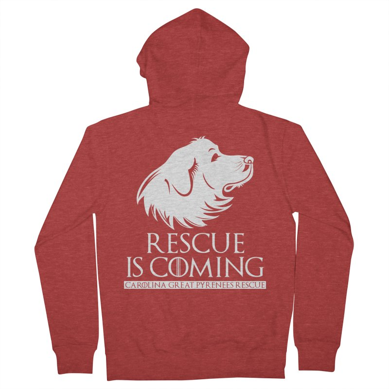 Rescue is Coming CGPR Men's Zip-Up Hoody by Carolina Great Pyrenees Rescue's Shop