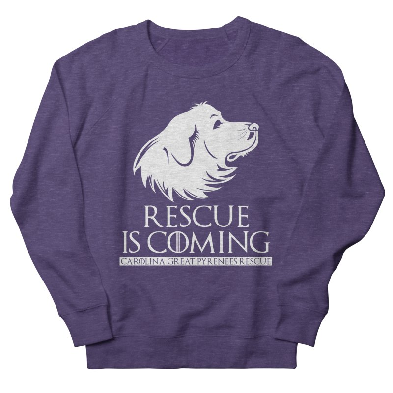 Rescue is Coming CGPR Women's French Terry Sweatshirt by Carolina Great Pyrenees Rescue's Shop